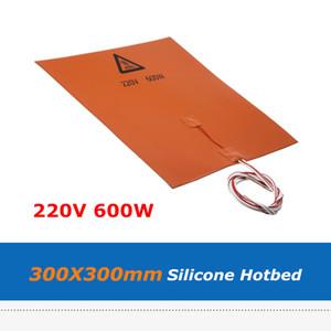 3M Adhensive 테이프와 3D 프린터 제품 실리카 젤 온상 패드 300 * 300mm 220V 600W 실리콘 고무 히터 열 침대