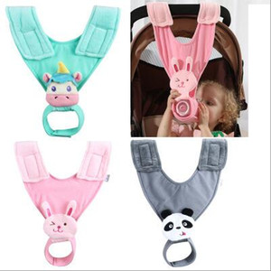 Baby Bottle Holder Release Mommy Hand Infrant Feeding Bottle Cloth Clips Newborn Stroller Accessories Feeding Bottle Plush Sling Strap C7050