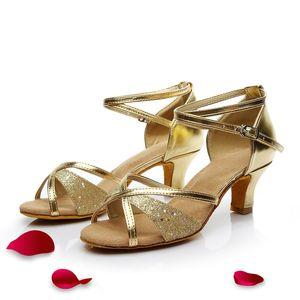 Contrasto di colore donne latino pratica scarpe donna Scarpe da ballo delle ragazze delle signore della scarpa da tennis Dancing Shoes For Women Jazz Ballroom Dance Shoes Heel 7 centimetri