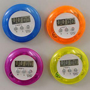 Digital-Küche-Timer Neuheit Kochen Timer-Küche Gadget-Helfer Runde Mini Digital LCD Küche Count Down Timer Alarm-Tool DBC DH2569 Clip
