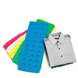 Práctica de ropa plegable Junta ahorrar tiempo Multifuncitonal magia Rápida velocidad de la camiseta de la ropa se pliega fácilmente Organizar