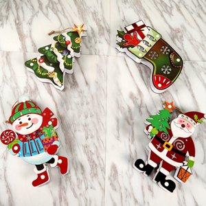 Árbol de Navidad luz de la noche de la lámpara de escritorio luminosa colgando colgante del ornamento Crafts Holiday Decor SuppliesNM decorativo de Navidad