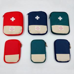 Мини Путешествия Аптечка Семейный Emergency Survival сумка автомобилей Emergency Kit Главная медицинская сумка Спорт на открытом воздухе Портативный первой помощи сумка VT1658
