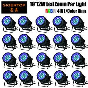 20шт Бесплатная доставка / Лот Водонепроницаемый LED PAR 19x12w RGBW 4IN1 Увеличить LED PAR Light Par Can IP65 Открытый Освещение сцены DMX512 Автоматическое управление Ручной
