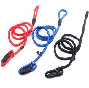 Collier de chien de nylon murmure chuchoteuse César Millan Style Slip Entraînement Laisse de laisse et collier bleu rouge couleurs noires pour petites races