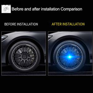 4pcs Hub Light Car Wheel Caps Light Floating Illumination LED Light Center Cover Lighting Cap for bmw e46 e60 e39 e90 f30 f10