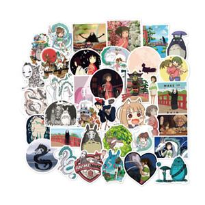 100 PCS Miyazaki anime Spirited Away Totoro Stickers Graffiti for DIY Sticker on Suitcase Luggage Laptop Bicycle Skateboard Car