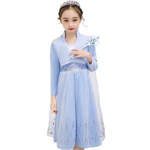 Snow Queen II Kostüm für Mädchen Prinzessin Kleider Karneval Kid Prinzessin Velvet Kleid Kinder kleidet M950