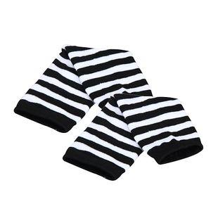 Stripe Wrist Arm Hand Warmer Knitted Long Fingerless Gloves Mitten Men Women Gloves autumn and Winter 2019 New Drop shopping