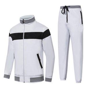 Suits Koşu Yüksek Kalite Erkek Tişörtü Eşofman tasarımı Giyim Erkek eşofman Ceketler Spor Takımları