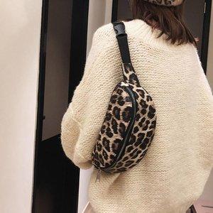 Mulheres Handbag Neutral Outdoor Zipper leopardo Messenger Bag Esporte Peito Bag cintura Sra bolsas Sac a principal # 5