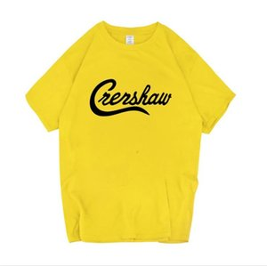 Nipsey Hussle Crenshaw Mens magliette estate allentato solido Colore Lettera Top stampati Adolescente Moda manica corta Tees