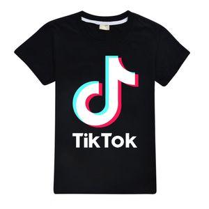 Tik tok Shirts Kids Fashion Tees Tops Tiktok Cotton Black Pink Red Purple T-shirts for Teen Boys Girls