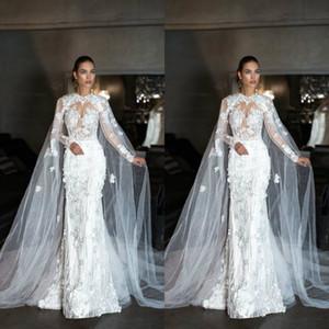 독점적 인 디자인 웨딩 랩 2019 Tulle Cloak Lace Ladies Bridal Cape 민소매 Bridal Shawl 사용자 정의 Wedding Jackets 무료 배송