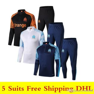 19 20 new Olympique de Marseille soccer tracksuits PAYET sweatshirt 2019 2020 OM L.GUSTAVO soccer jersey THAUVIN long sleeve training suit