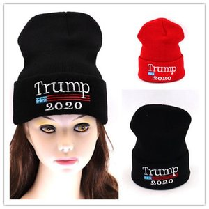 New Year Gifts Knitting Hats Embroidery Trump 2020 Caps Winter Beanies Make America Great Again Donald Trump Skiing Snood Warm Men Women Cap