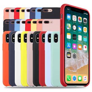 Custodia in silicone originale di lusso per iPhone 7 8 Plus per iPhone 6 6S Plus X XS MAX XR 7 8 con custodia per telefono liquido LOGO con scatola al dettaglio