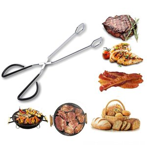 Outdoor Gadget Barbecue Accessories Stainless Steel Scissors Type Grilled BBQ Tools Food Clip Portable Outdoor Cooking & Eating Patio, Lawn