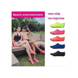 Пляж Водные виды спорта Дайвинг Socks 5 цветов Плавание Подводное Покрытием Море Пляж обувь дышащая Серфинг носки песочница