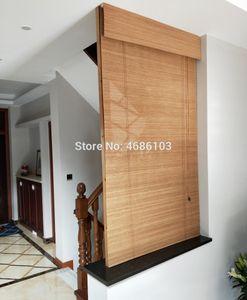 Persianas enrollables de bambú estilo americano persianas enrollables cortinas opacas cortinas impresas persianas porche vintage