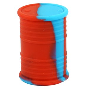 Wholesale 11ml Oil Drum Container Silicone Barrel Container Nonstick Wax Container Jar Oil Box Dab Storage