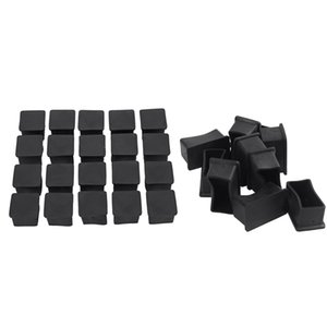 30 Pcs Rubber Table Foot Cover:10 Pcs Furniture Leg Protectors 25X50Mm & 20 Pcs Square Chair Protectors 25Mm X 25Mm