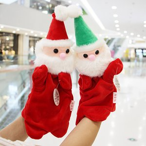 Santa baby hand puppet super soft plush toy happy family entertainment hand puppet children learn to teach toys gift doll Christmas gift