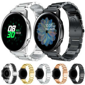 20 mm Sólido Enlace correa de pulsera de reloj de Samsung Galaxy Activo 2 40mm 44mm Bandas de acero inoxidable correa de la muñeca