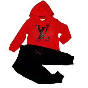 Mikrdoo 2017 ropa del bebé del otoño fijaron muchacho de los cabritos de la manga larga con capucha de la muchacha Top + Pants 2 juegos de las PC de moda chándal Equipos