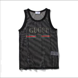Diseñador para hombre sin mangas con letras deporte culturismo marca gimnasio ropa de lujo chalecos ropa perspectiva hombres ropa interior Tops M-XXL