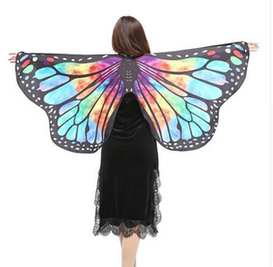 Women Girls Butterfly Wings Scialle Pashmina Poncho Fairy Ladies Ninfa Pixie Party Dance Cosplay Accessorio GB453