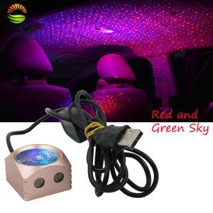 YSY 1set крыши автомобиля воздуха Лампа автомобиля Звездное небо Метеор лампы Светодиодный проблесковый Дыхание Голос лазерный контроль Атмосфера Бордовый