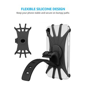 Bicycle Mobile Phone Holder Silicone Motorcycle Bike Handlebar Stand Mount Bracket Mount Phone Holder For Smartphone Universal