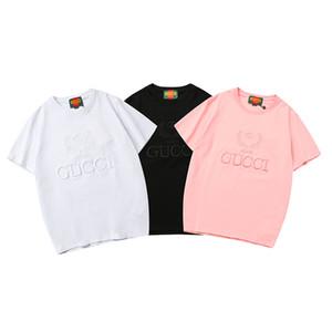 Erkek Tasarımcı Gömlek Kadınlar Yaz Erkek Lüks Gömlek Casual Marka T Gömlek Kısa Kollu Üst Tees Mektupları Nakış Boyut S-XXL B100350K