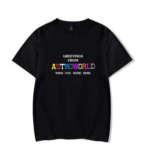 Fashion-Mens Travis Scott Tshirts Summer Designer Astroworld Letters Print Short Sleeved Tshirt Tops Clothes