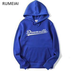 Tops Dreamville Cole Roupas Outono Outono Primavera Hoodies Casuais Pullovers Pullovers J. Hip Hip Capuz Moda-Men NICFD