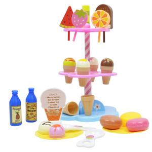 Nuovo 1 Set Hot Simulation Piccoli carrelli Girl Mini Candy Cart Negozio di gelato Supermarket Giocattoli per bambini Giocare a casa Giocattoli per bambini D76