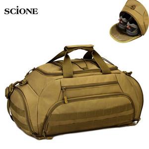 35L Gym Bag Backpack Rucksack Tactical Molle Bags Waterproof Shoes Sports Handbag Camping 14'' Laptop Canera X335WA