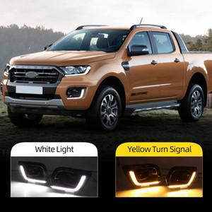 2 pezzi della nebbia di DRL della lampada per Ford Ranger Wildtrak 2019 2020 LED Daytime Running Light Day con segnale di girata