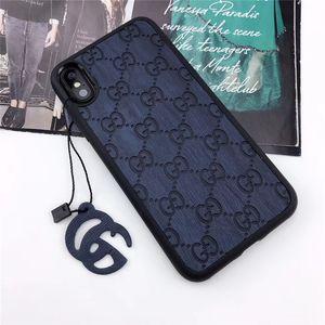 One Piece Luxuxtelefonkasten für iPhone 6S 7 8 P X XS Mode-Superior-Logo Designer Telefon rückseitige Abdeckung für Geschenke