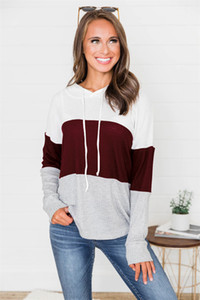 Autumn Designer Womens painéis T-shirts Moda com capuz solto Female Tees Roupa das senhoras