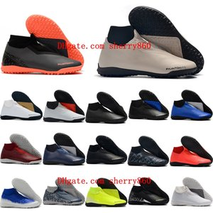 2020 top quality mens soccer shoes Phantom Vison Academy DF TF soccer cleats football boots high ankle scarpe calcio