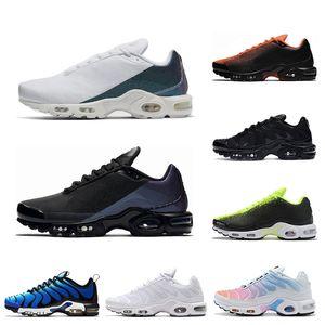 جديد TN زائد الاحذية للرجال ثلاثية أسود أبيض قرمزي فولت رذاذ الطلاء مشرق رجل عداء المدربين الرياضية حذاء 40-45