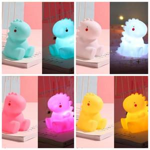Lampada LED Dinosaur Mini Night Lights Bambini Bambini Luminescence Giocattoli Per la casa Bedroom Letto Lampade da regalo 3 7LY H1