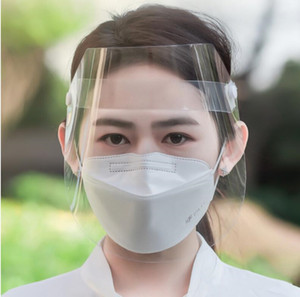 24 hours ship Clear Full Face Shield Protective Face Mask Anti Droplet Transparent Adult Masks Windbreak Household Protection In Stock