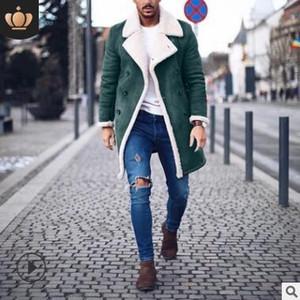 2019 foreign trade winter fleece composite suede men's warm jacket