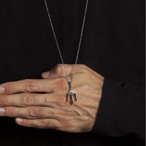 Neptun Trident-Anhänger-Halskette in Edelstahl für Männer Statement Ketten Sea-Liebhaber-Geschenk