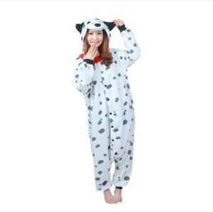 Adult Dog Pajamas Onesie,Adult Animal Dalmatians Sleepwear Party Costumes Anime Hoodie Pyjama For Girls Boys