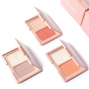 Makeup Facelift Two-Color Blush Highlight Powder Repair Volume Plate Shimmer And Matte Color Face Bronzers & Highlighters 8g