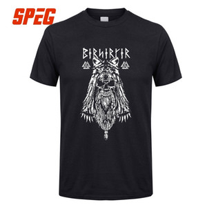 바이킹 버서커 세련된 T 셔츠 남성용 라운드 넥 짧은 소매 옷 새 빈티지 코튼 성인 Tshirt 판매 티즈 바이킹 오딘 Y19060601